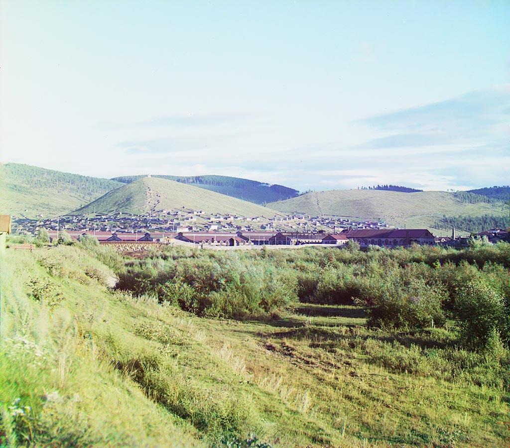 Усть-Катав фото города: фото Прокудина-Горского. Общий вид Усть-Катавского завода. Лето 1910 года